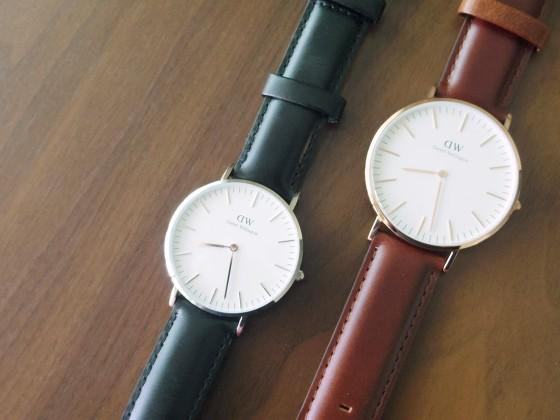 ダニエル・ウェリントンの腕時計2タイプ