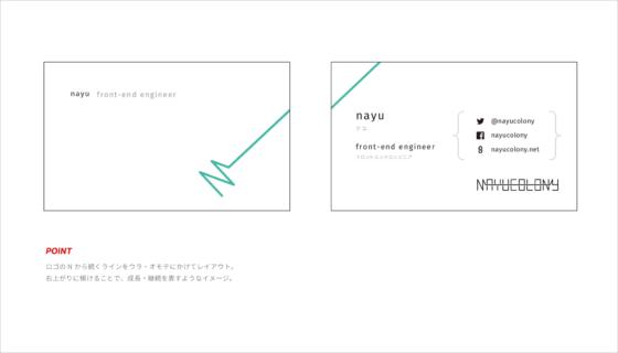 Bタイプの名刺デザイン案