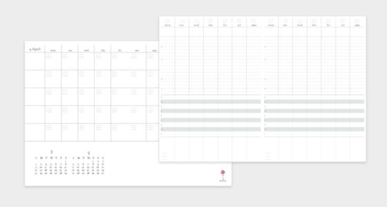 Illustratorで作った自作の手帳テンプレート