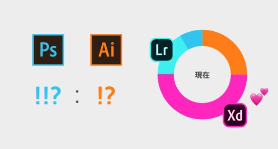 現在はPhotoshop愛が1、Lightroom愛が2、Illustrator愛が3、XD愛が6という複雑な状態